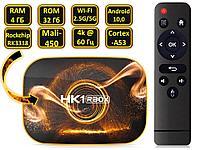 Android 10.0 TV приставка с памятью 4GB/32GB на 4х ядерном процессоре RK3318, модель HK1 RBOX R1