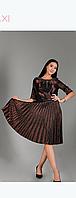 Платье Uran Mod U-11301 коричневое