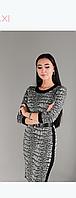 Платье Myrang 05-2453-BLACK серо-черное