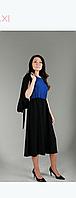 Платье-двойка Sensiline 1201 черное-синее