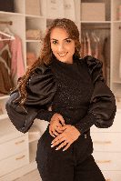 Блузка Odendi 030-97157 bluz черная