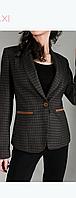 Пиджак Gold Carino 4099 коричневый в клетку