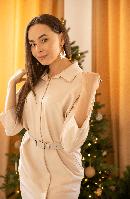 Платье Vokzal MM20-6029 MIRA бежевое
