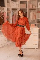 Платье Sensiline 1282 DRESS красное в клетку