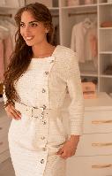 Костюм-двойка Sensiline 1355 DRESS белый