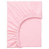 ЛЕН Простыня натяжная, розовый 80x130 смИКЕА, IKEA