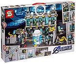 Конструктор аналог лего Lego 76125 Lepin SY 1187 Большая Лаборатория Железного человека 1325 деталей, фото 2