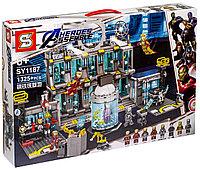 Конструктор аналог лего Lego 76125 Lepin SY 1187 Большая Лаборатория Железного человека 1325 деталей