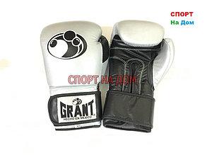 Боксерские перчатки Grant кожа (цвет серый) 12,14,16 OZ, фото 2