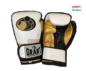 Боксерские перчатки GRANT кожа (белый)