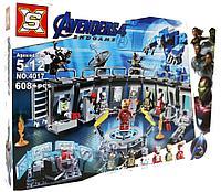 Конструктор аналог лего Lego 76125 Lepin 07121 Лаборатория Железного человека. Серия Super Heroes 608 дет
