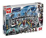 Конструктор аналог лего Lego 76125 Lepin 07121 Лаборатория Железного человека. Серия Super Heroes 608 дет, фото 2