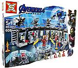 Конструктор аналог лего Lego 76125 Lepin 07121 Лаборатория Железного человека. Серия Super Heroes 608 дет, фото 3