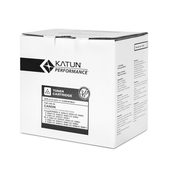 Тонер-картридж Katun GPR-23/C-EXV21 (Black, 26000 стр)