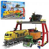 """Конструктор аналог лего Lego 25004 AUSINI """"Жолтый Поезд"""" Lepin 729 деталей, фото 2"""
