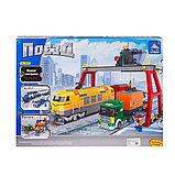 """Конструктор аналог лего Lego 25004 AUSINI """"Жолтый Поезд"""" Lepin 729 деталей, фото 3"""