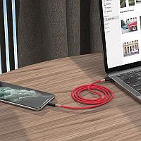 "Кабель USB  X48 Soft Silicone "" зарядка синхронизация данных, for Lightning, Micro USB, Type-C., фото 1"