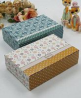 """Подарочные коробки """"Pattern"""", горчичный и бирюзовый цвета"""
