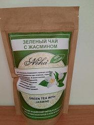 Натуральный листовой зеленый чай с жасмином NEHA GREEN LEAF TEA WITH JASMINE. 100г.