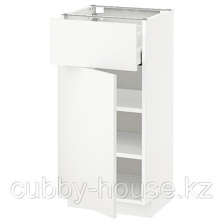 МЕТОД / МАКСИМЕРА Напольный шкаф с ящиком/дверью, белый, Будбин белый с оттенком, 40x60 см, фото 2