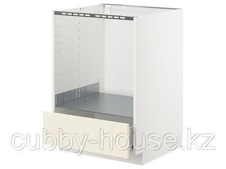 МЕТОД / ФОРВАРА Напольный шкаф д/духовки, с ящиком, белый, Хэггеби белый, 60x60 см, фото 2