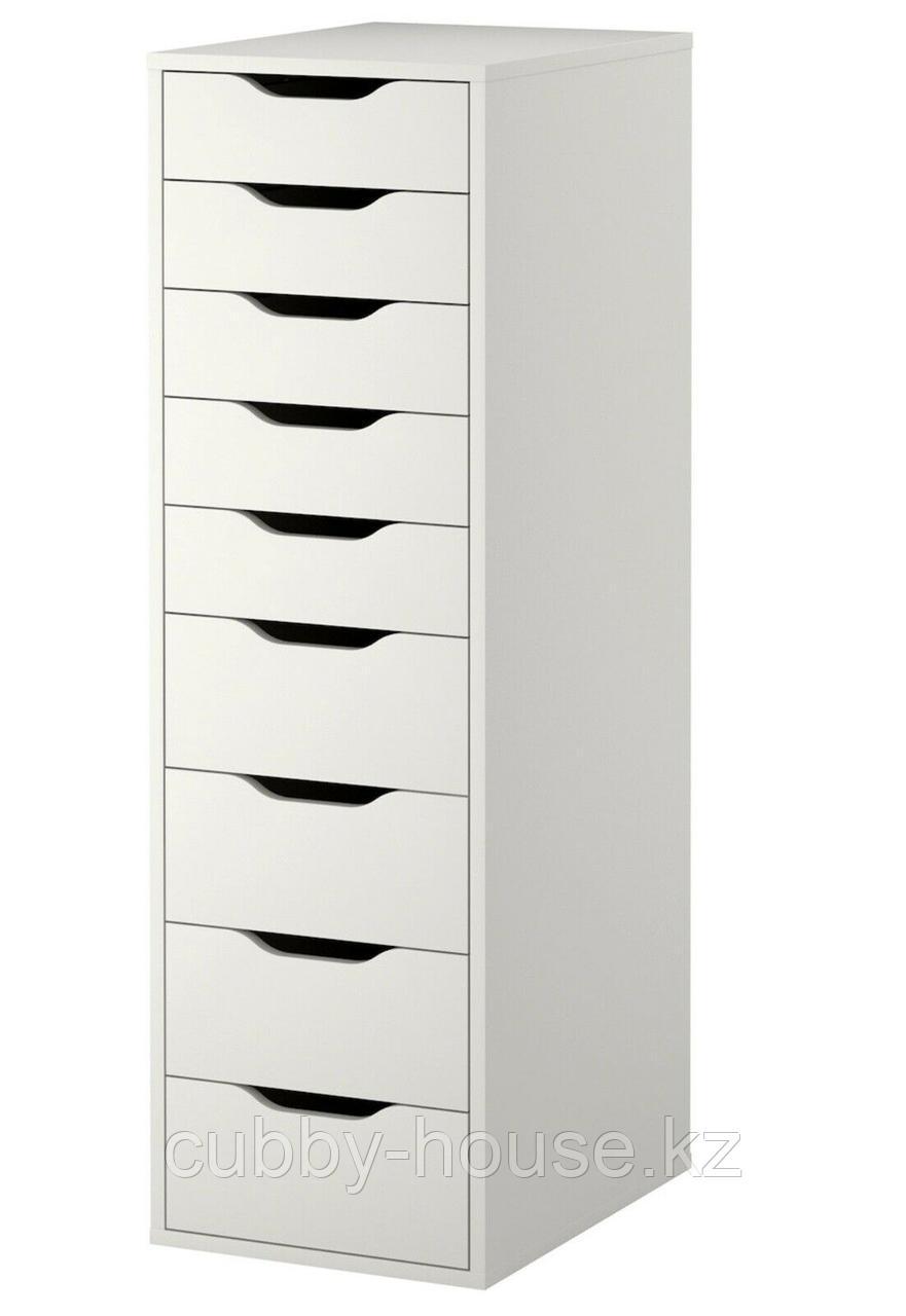 АЛЕКС Секция с 9 ящиками, белый, 36x116 см
