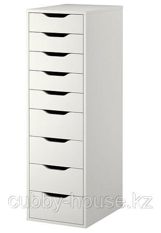 АЛЕКС Секция с 9 ящиками, белый, 36x116 см, фото 2