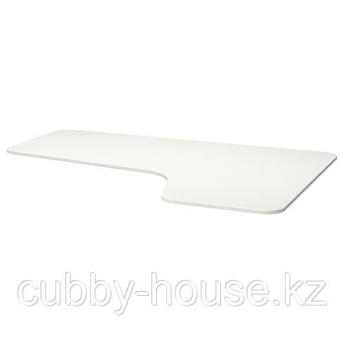 БЕКАНТ Столешница с вырезом, правая, белый, 160x110 см