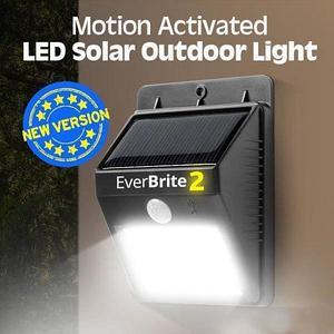 Светильник COB LED уличный на солнечной батарее с датчиком движения «EverBrite II»