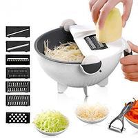 Миска-дуршлаг с овощерезкой-слайсером Veg Cutter + 5 насадок