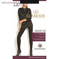 Колготки женские GLAMOUR Velour 120 цвет чёрный (nero), р-р 5