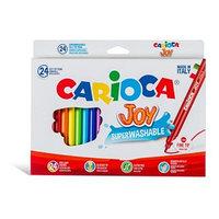 Фломастеры 24 цвета Carioca Joy, 2.6 мм, в картонной коробке