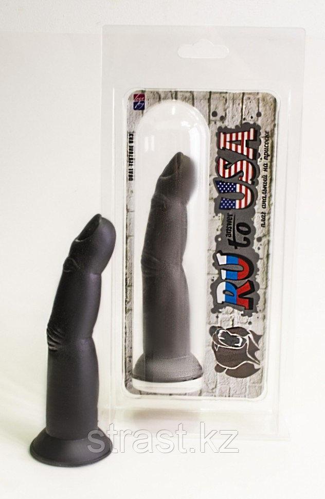 Палец анальный чёрный на присоске RU TO ANSWER USA, L 175 мм, Dmax 30 мм