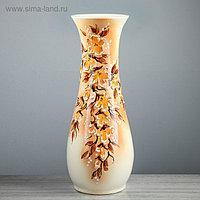 """Ваза напольная """"Осень"""", цветы, букет, роспись, разноцветная, 58 см, микс, керамика"""