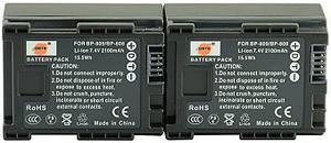 Аккумуляторы BP-808/809 от DSTE для Canon XA10  XA20 XA25 HF-G30 (дубликат), фото 2