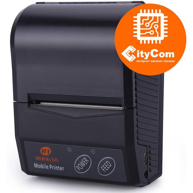 Карманный принтер чеков термопринтер 58mm Rongta RPP210A портативный