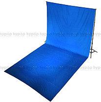 Студийный тканевый синий фон ширина 2.3 м Высота на выбор, фото 3