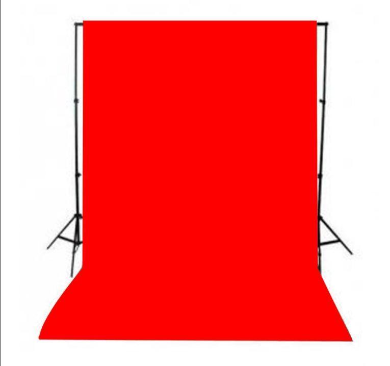 Красный фон 6х2.3 м Студийный, тканевый