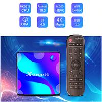 Android 10.0 TV приставка с памятью 4GB/32GB на 4х ядерном процессоре RK3318, модель Vontar X88 PRO 10