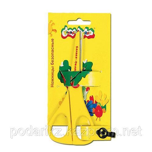 Ножницы детские Каляка-Маляка безопасные, пластиковые с металлическими лезвиями Каляка-Маляка