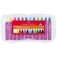 Восковые мелки JUMBO, 12 цветов, в пластиковой коробке.  Faber-Castell
