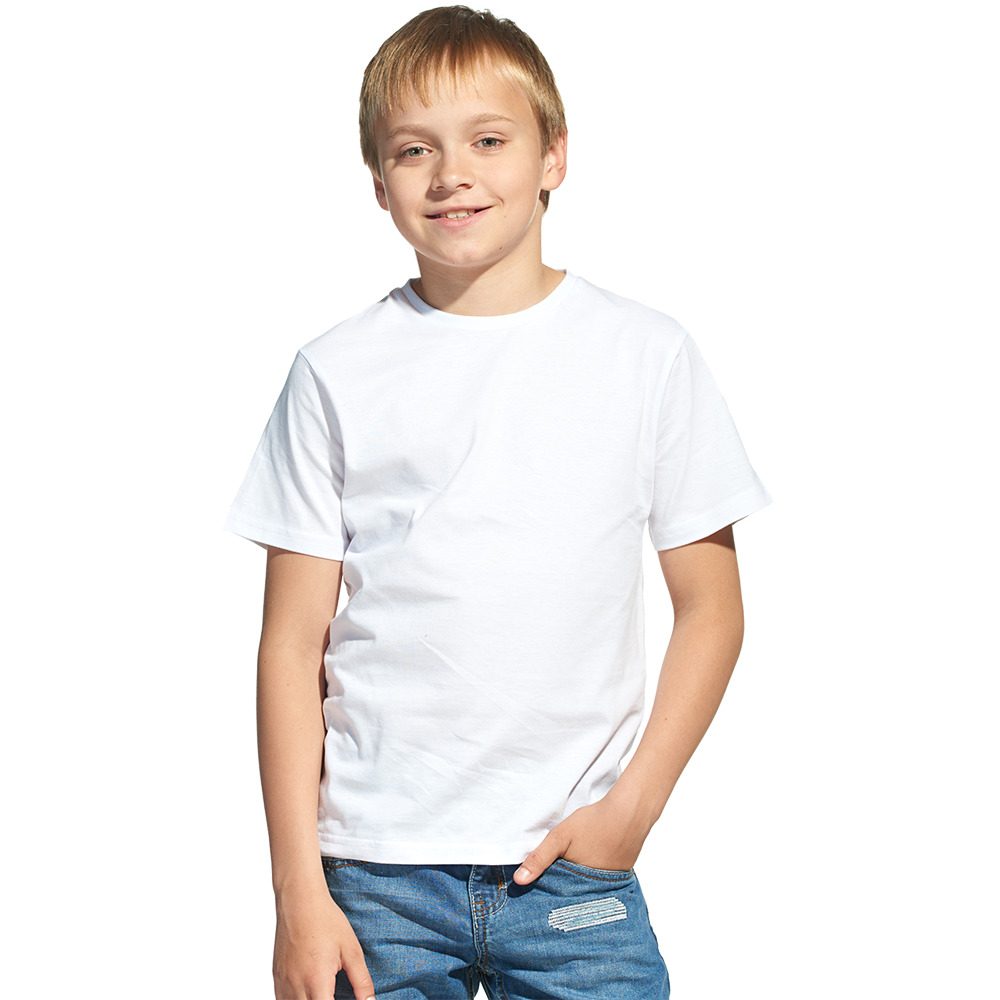 """Футболка детская, для сублимации Прима-Лето микрофибра """"Fashion kid"""" цвет: белый, размер 30 (рост 122)"""