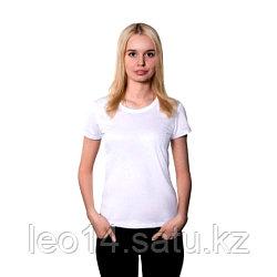 "Футболка для сублимации Прима-Лето микрофибра ""Style Woman"" цвет: белый, размер 40(3XS)"