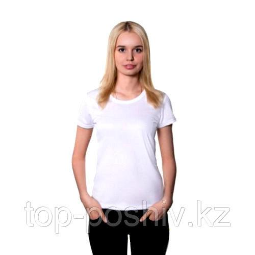 "Футболка для сублимации Прима-Лето микрофибра ""Style Woman"" цвет: белый, размер 48(M)"