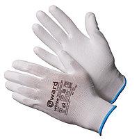 Перчатки нейлоновые белые с белым полиуретаном Gward White