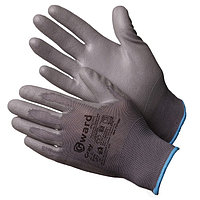Перчатки нейлоновые серые с серым полиуретаном Gward Gray