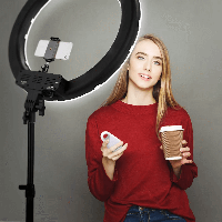 +Подарок! Кольцевая LED Лампа 33 см., фото 1