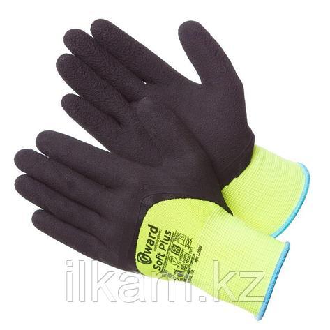 Перчатки нейлоновые с глубоким покрытием вспененным латексом.Gward Soft Plus, фото 2