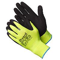 """Перчатки нейлоновые цвета """"Hi-Vis"""",с покрытием вспененным латексом.Gward Soft"""