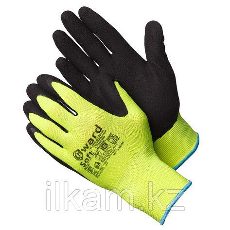 """Перчатки нейлоновые цвета """"Hi-Vis"""",с  покрытием вспененным латексом.Gward Soft, фото 2"""